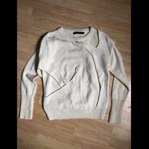 Nicholas K Sweaters - Nickolas K High End Merino Wool Cream Sweater